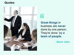 Quotes Team Business Ppt Powerpoint Presentation Portfolio Template