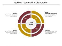 Quotes Teamwork Collaboration Ppt Powerpoint Presentation Portfolio Background Designs Cpb