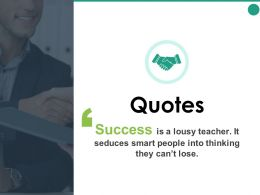 Quotes Thinking H46 Ppt Powerpoint Presentation Pictures Icons