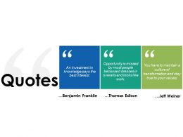 Quotes Trade Exhibition Ppt Powerpoint Presentation File Infographic Template
