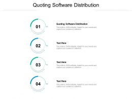 Quoting Software Distribution Ppt Powerpoint Presentation Outline Graphics Tutorials Cpb