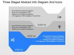 qv Three Staged Abstract Info Diagram And Icons Powerpoint Template