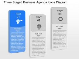 qw Three Staged Business Agenda Icons Diagram Powerpoint Template
