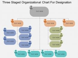 Qw Three Staged Organizational Chart For Designation Flat Powerpoint Design