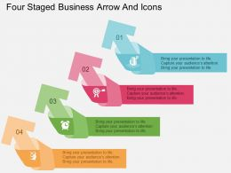 Qx Four Staged Business Arrow And Icons Flat Powerpoint Design