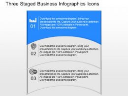 qx Three Staged Business Infographics Icons Powerpoint Template