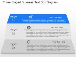 qy Three Staged Business Text Box Diagram Powerpoint Template