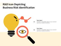 R And D Icon Depicting Business Risk Identification