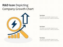 R And D Icon Depicting Company Growth Chart