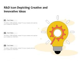 R And D Icon Depicting Creative And Innovative Ideas