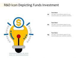 R And D Icon Depicting Funds Investment