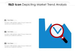 R And D Icon Depicting Market Trend Analysis