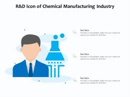 R And D Icon Of Chemical Manufacturing Industry