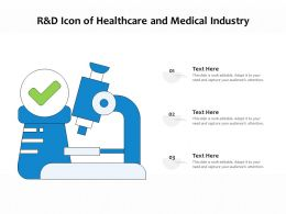 R And D Icon Of Healthcare And Medical Industry
