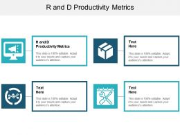 R And D Productivity Metrics Ppt Powerpoint Presentation Infographics Inspiration Cpb