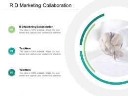 R D Marketing Collaboration Ppt Powerpoint Presentation Template Cpb