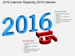 ra 2016 Calendar Replacing 2015 Calendar Flat Powerpoint Design