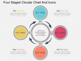 Ra Four Staged Circular Chart And Icons Flat Powerpoint Design