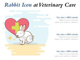 Rabbit Icon At Veterinary Care