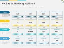 RACE Digital Marketing Dashboard Multi Channel Marketing Ppt Information