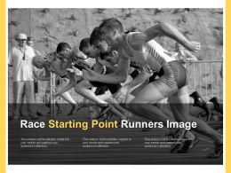 Race Starting Point Runners Image
