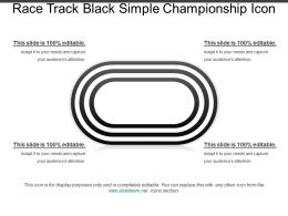 Race Track Black Simple Championship Icon