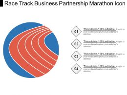 Race Track Business Partnership Marathon Icon
