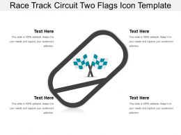 Race Track Circuit Two Flags Icon Template