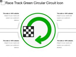 Race Track Green Circular Circuit Icon