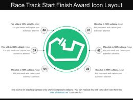 Race Track Start Finish Award Icon Layout
