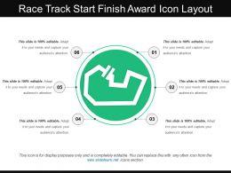 Race Track Start Finish Award Icon Layout