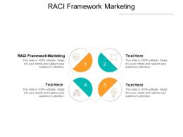 RACI Framework Marketing Ppt Powerpoint Presentation Professional Example Cpb