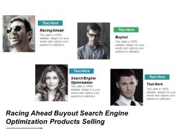 Racing Ahead Buyout Search Engine Optimization Products Selling Cpb