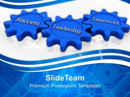 Rack And Pinion Gear Gears Connnection Leadership Teamwork Strategy Ppt Design Slides Powerpoint