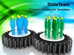 Rack And Pinion Gear Powerpoint Templates Gears Construction Teamwork Ppt Process