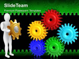 Rack And Pinion Gear Powerpoint Templates Gears Industrial Leadership Ppt Slide