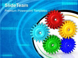 Rack And Pinion Gear Powerpoint Templates Gears Leadership Ppt
