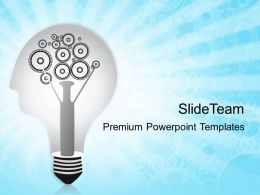 Rack Gear Powerpoint Templates Bulb With Gears Business Ppt Slides