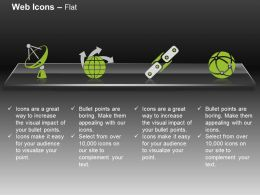 Radar Antenna Globe Satellite Communication Ppt Icons Graphics