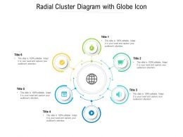 Radial Cluster Diagram With Globe Icon