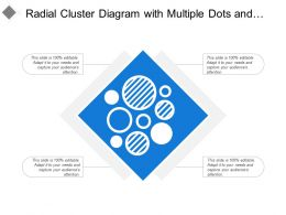 Radial Cluster Diagram With Multiple Dots And Circle