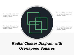 Radial Cluster Diagram With Overlapped Squares