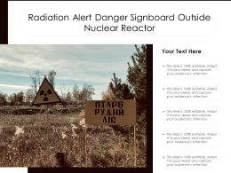 Radiation Alert Danger Signboard Outside Nuclear Reactor