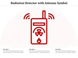 Radiation Detector With Antenna Symbol