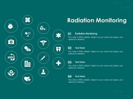 Radiation Monitoring Ppt Powerpoint Presentation Outline Tips