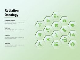 Radiation Oncology Ppt Powerpoint Presentation Icon Smartart