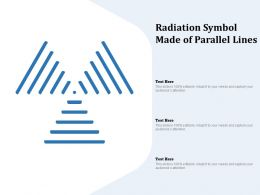Radiation Symbol Made Of Parallel Lines