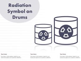 Radiation Symbol On Drums