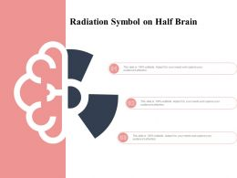 Radiation Symbol On Half Brain