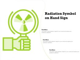 Radiation Symbol On Hand Sign